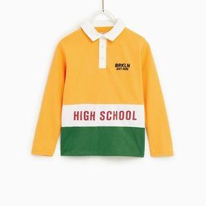Zara Boys Polo Shirt Tricolor SZ 11/12 Years